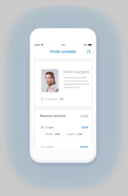 illustration profil locataire sur téléphone