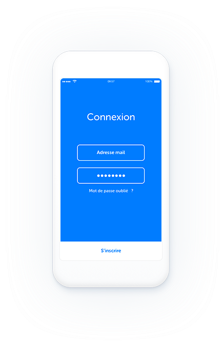 illustration blue sur téléphone